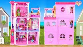 Download Barbie 3-Story Dream Town House Unboxing Rumah boneka Barbie Puppenhaus Video