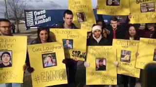 Download Students at Portage Central High School leave class to join National School Walkout day Video