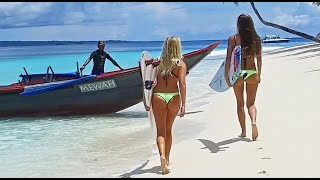 Download KALOEA Surfer Girls - Destination Mentawai WavePark (4K - Drone) Video