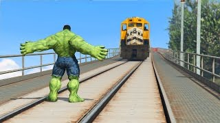 Download CAN HULK STOP THE TRAIN IN GTA 5? Video
