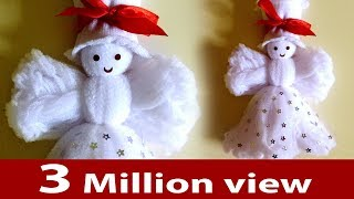 Download Make a doll, How to make doll from socks, Easy craft design, Christmas decoration DIY crafts Video