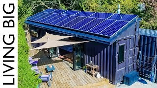 Download 40ft Shipping Containers Transformed Into Amazing Off-Grid Family Home Video