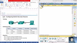 Download 5.2.2.9 - 2.2.4.11 Lab - Configuring Switch Security Features Video