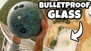 Download BOWLING BALL Vs. BULLETPROOF GLASS from 45m! (150 ft) Video