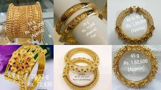 Download Latest Gold Bangle with WEIGHT and PRICE Video