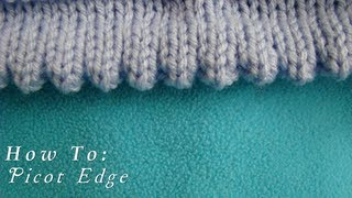 Download How To | Picot Edging | Knitted Hem Video