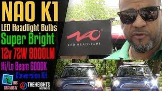 Download NAO K1 LED Headlight Hi-Lo Beam Dual Beam💡 : LGTV Review Video