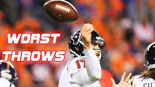 Download NFL Worst Throws of All-Time Video
