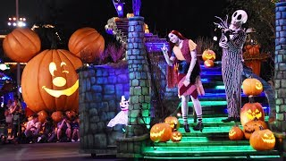 Download Frightfully Fun Parade at Mickey's Halloween Party 2017, Disneyland w/Villains, Jack & Sally, Mickey Video