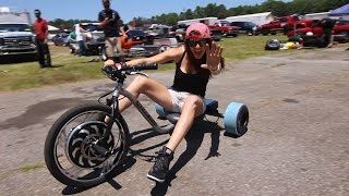 Download She is a PRO at drift trikes Video