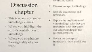 Download Results, Discussion Conclusion chapters Video