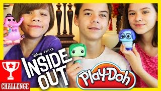 Download INSIDE OUT PLAY DOH CHALLENGE! | KITTIESMAMA Video