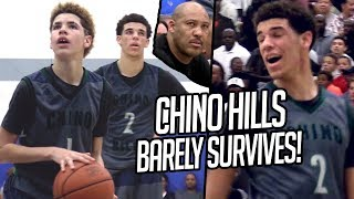 Download Lonzo Ball & Chino Hills BARELY SURVIVE! 14 Year Old LaMelo CLUTCH SHOTS + Lonzo OFF DAY TRIPLE DUB Video