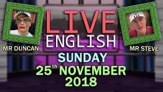 Download Learn English - LIVE - 25th November 2018 - Fashion - Image - Style - Dandy Duncan and Stylish Steve Video