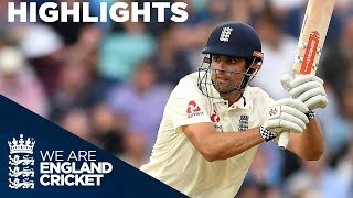 Download Alastair Cook Unbeaten On 46! | England v India 5th Test Day 3 2018 - Highlights Video
