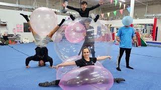Download GYMNASTICS INSIDE WUBBLE BUBBLE BALL! Video