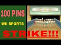 Download STRIKE Wii sports 100 pins!!!!!!! Video