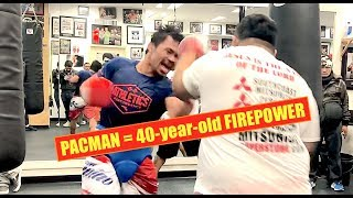 Download 40-year-old MANNY PACQUIAO ridiculous Mitts and Plyo Workout Video