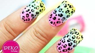 Download Acid Leopard Nail Art Tutorial - Decoracion de uñas animal print leopardo neon Video