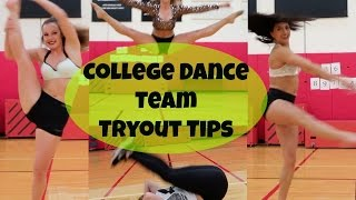Download College Dance Team TRYOUT TIPS!   Courtney Dang Video