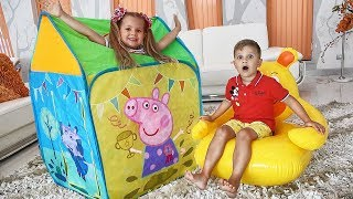 Download Diana Pretend Play with Playhouse Tent Toy Video