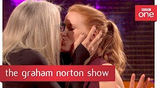 Download Diane Keaton kisses Kevin Bacon and Jessica Chastain - The Graham Norton Show 2017: Preview - BBC Video