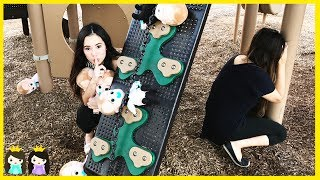 Download Boss Baby Plays Hide N Seek at the park playground with Princess ToysReview Video