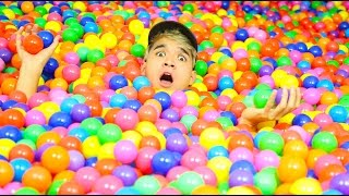 Download 100,000 BALLPIT BALLS DOWN THE STAIRS! Video