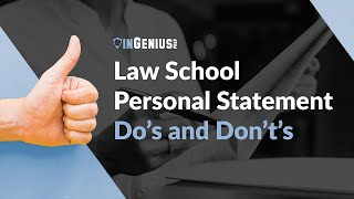 Download Law School Personal Statement: Do's and Don't's Video