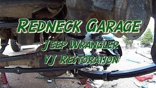 Download Jeep Wrangler YJ Front End Rebuild #3 w/ Ball Joints W/ Tie Rod Ends Video