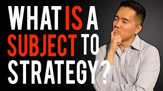 Download What is A Subject To Strategy? - How & When To Use it! Video