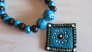 Download DIY - M-seal necklace Tutorial, How to make square shaped m-seal Pendant Video
