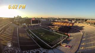 Download Vikings-Gophers Time Lapse: 48 Hours of Minnesota Football Gameday Video