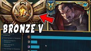 Download CHALLENGER Darius Goes Into BRONZE 5! HARD Smurfing in Bronze V - League of Legends Video