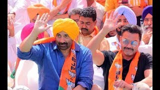 Download BJP candidate Sunny Deol holds a roadshow in Gurdaspur Video