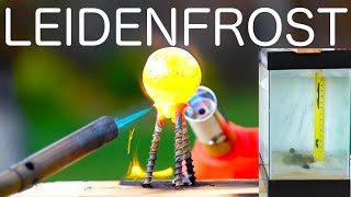 Download Do hot objects fall through water faster? Leidenfrost Effect! Video