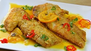 Download Fried Snapper In A Zesty Orange Ginger Sauce | CaribbeanPot com Video