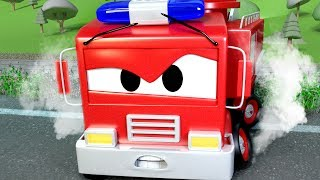 Download A Dangerous Railway ! The Car Patrol in Car City 🚓 🚒 l Cartoons for Children Video