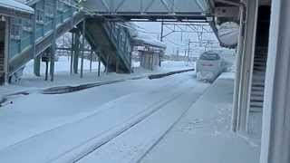 Download Awesome bullet train on snow Shinkansen in Japan Video