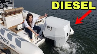 Download New Diesel Outboard Water Demo Oxe Diesel K 150 HP on Brig Navigator 730 Palm Beach Boat Show Video