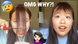 Download CUTTING MY OWN BANGS FAIL!! Disaster 😰 Video