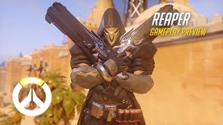 Download Reaper Gameplay Preview | Overwatch | 1080p HD, 60 FPS Video