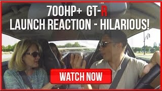 Download Friend's Mom's Nissan GT-R Launch Reaction - 700HP+ Hilarious! Video