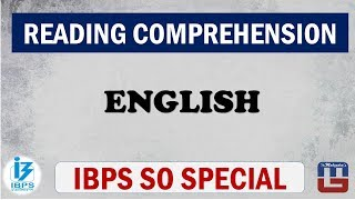 Download Reading Comprehension | English | IBPS Specialist Officer (SO) 2017 Video
