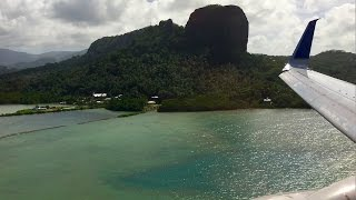 Download CRAZY Hard Landing! United Airlines B737-800 - Kosrae to Pohnpei Video