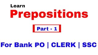 Download Prepositions in English Grammar For Bank PO | Clerk | SSC [In Hindi] Part 1 Video