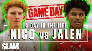Download Nico Mannion vs Jalen Green: The BIGGEST Gameday of the YEAR 🏆 | SLAM Day in the Life Video