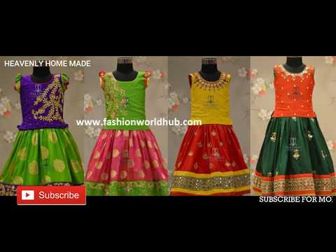 Pattu Langa Blouse Designs For Kids