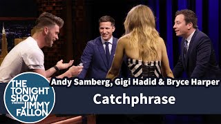 Download Catchphrase with Andy Samberg, Gigi Hadid and Bryce Harper Video