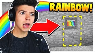 Download FINDING THE RAINBOW BUTTON in MINECRAFT! Video